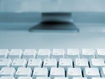 голубая клавиатура компьютера Стоковое Фото