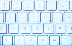 голубая клавиатура Стоковые Изображения