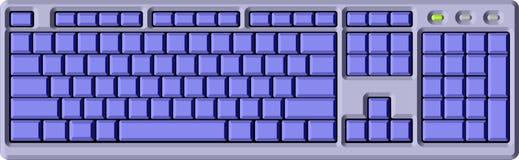 голубая клавиатура Стоковое Изображение