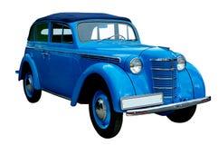 голубая классика автомобиля изолировала ретро стоковые изображения