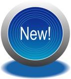 голубая кнопка Стоковое Изображение RF