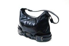 голубая кожа сумки Стоковые Фото