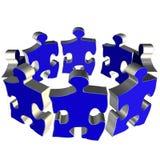 голубая команда головоломки Стоковое Изображение