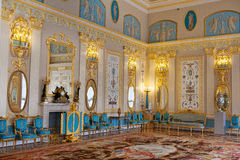 голубая комната дворца Кэтрины Стоковое Фото