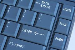 голубая компьтер-книжка клавиатуры Стоковое фото RF