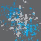 голубая краска влияния Стоковое Фото