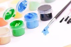 голубая краска Стоковые Изображения
