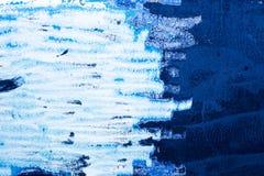 голубая краска grunge цвета текстурирует стену Стоковые Изображения