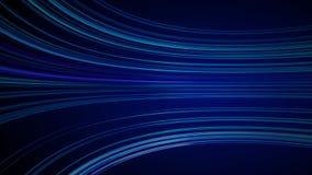 Голубая красочная абстрактная предпосылка с двигать анимации линий для сети оптического волокна бесплатная иллюстрация