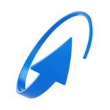 Голубая круглая стрелка Стоковые Фото