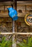 голубая кружка заржавела Стоковое Изображение