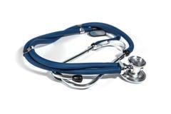 Голубая крышка стетоскопа и медсестры Стоковое Фото