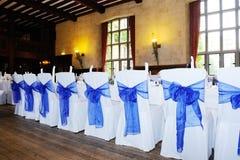 Голубая крышка стула Стоковое Фото