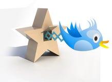Голубая кукушка tweets и пеет бесплатная иллюстрация