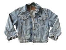 Голубая куртка джинсовой ткани Стоковое Изображение