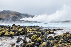Голубая лагуна, Исландия Стоковая Фотография