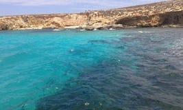голубая лагуна malta Стоковые Фото