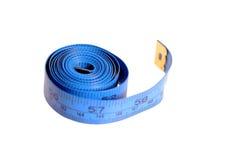 голубая лента измерения Стоковое Изображение RF