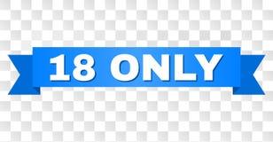 Голубая лента с ЕДИНСТВЕННЫМ названием 18 иллюстрация вектора
