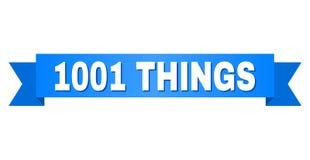 Голубая лента с текстом 1001 ВЕЩИ иллюстрация вектора