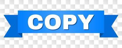 Голубая лента с текстом ЭКЗЕМПЛЯРА иллюстрация вектора