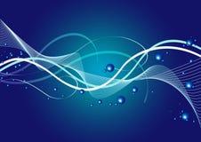 голубая линия вектор Стоковые Фото