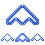 Голубая линия набор дизайна логотипа продукта стоковое фото