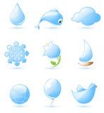 голубая лоснистая природа икон Бесплатная Иллюстрация