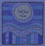 голубая луна украшения Стоковые Фото