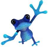 голубая лягушка иллюстрация вектора