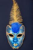 голубая маска золота Стоковые Изображения