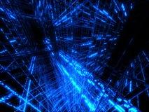 голубая матрица Стоковое Фото