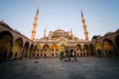 голубая мечеть сумрака Стоковое Изображение