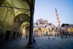 голубая мечеть сумрака Стоковые Фотографии RF