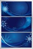 Голубая морозная картина Стоковая Фотография