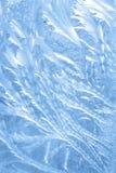 голубая морозная ледистая картина Стоковые Фотографии RF