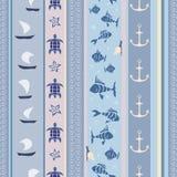 Голубая морская striped картина иллюстрация вектора