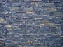 Голубая мраморная каменная малая предпосылка стены плитки Стоковые Фотографии RF