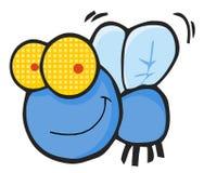голубая муха счастливая бесплатная иллюстрация