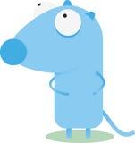 голубая мышь шаржа Стоковое Фото