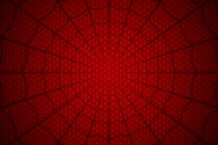 голубая мягкая сеть подкраской спайдера Паутина на красной предпосылке также вектор иллюстрации притяжки corel иллюстрация штока