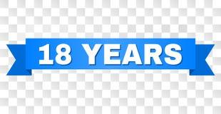 Голубая нашивка с 18 ЛЕТАМИ титра бесплатная иллюстрация