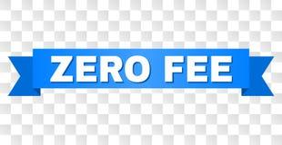 Голубая нашивка с ZERO названием ГОНОРАРА иллюстрация штока