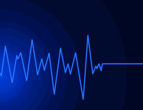 голубая неоновая волна радио Стоковое Изображение