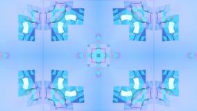 Голубая низкая поли геометрическая абстрактная предпосылка как двигая цветное стекло или калейдоскоп в 4k Анимация петли 3d, безш бесплатная иллюстрация