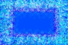 голубая обрамляя зима снежинок Стоковое Изображение