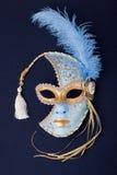 голубая оперенная маска золота Стоковое Изображение RF
