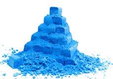 голубая пирамидка мелка Стоковое Изображение RF