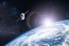 голубая планета земли Корабль запустить Стоковое Изображение RF