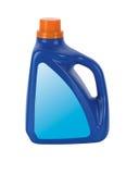 Голубая пластичная детержентная бутылка Стоковая Фотография
